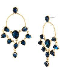 Diane von Furstenberg Aquarius Stone Chandelier Earrings - Blue