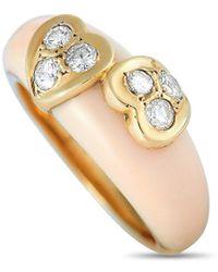 Van Cleef & Arpels Vintage Van Cleef & Arpels 18k 0.30 Ct. Tw. Diamond & Coral Ring - Metallic