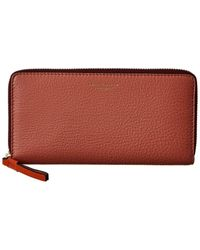 Tory Burch Perry Colorblocked Leather Zip Continental Wallet - Multicolour