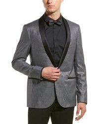 Lanvin D7 Slim Fit Eve Wool-blend Jacket - Gray