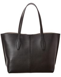 Tod's Joy Medium Leather Tote - Black