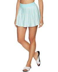 Kate Spade Pleated Stripe Coverup Skirt - Blue