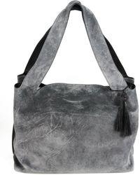 The Row - Duplex Suede Shoulder Bag - Lyst