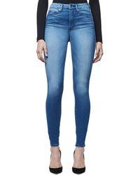 GOOD AMERICAN Good Legs Skinny Leg Jean - Blue