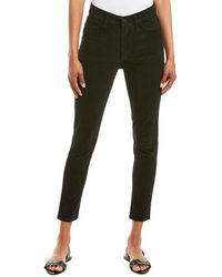 Joe's Jeans The Charlie Black High-rise Corduroy Skinny Ankle Cut
