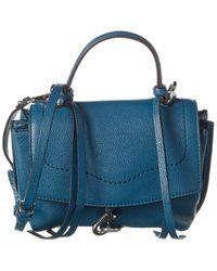 Rebecca Minkoff Stella Mini Leather Satchel Crossbody - Blue