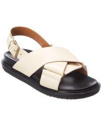 Marni Off-white Fussbett Sandals - Multicolour