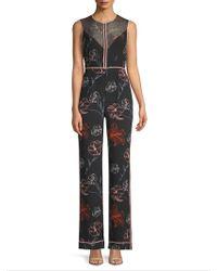 Diane von Furstenberg - Silk Floral-print Jumpsuit - Lyst