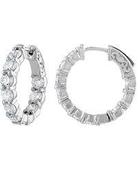 Diana M. Jewels . Fine Jewelry 18k 4.65 Ct. Tw. Diamond Hoops - Metallic