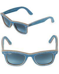 Ray-Ban - 50mm Classic Wayfarer Denim Sunglasses - Lyst
