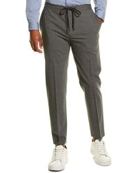Theory Hunter New Tailor Wool-blend Pant - Grey