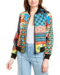Alice + Olivia Lonnie Reversible Bomber Jacket - Red