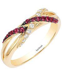 Le Vian ? 14k 0.30 Ct. Tw. Diamond & Ruby Ring - Metallic