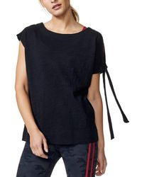 Vimmia Isle Tie Sleeve T-shirt - Black