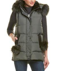 Nicole Benisti - Centro Leather-trim Vest - Lyst