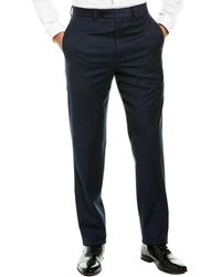 Brooks Brothers Regent Fit Wool-blend Pant - Blue