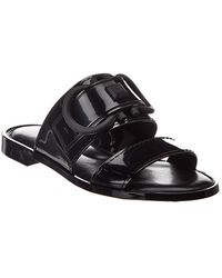 Ferragamo Taryn Metallic Jelly Logo Slide Sandals
