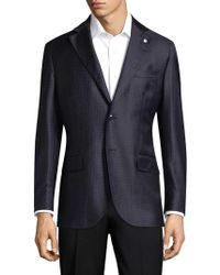 Lubiam - Checkered Wool Sports Jacket - Lyst