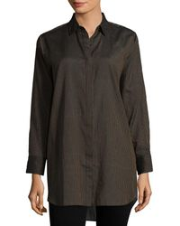 M.i.h Jeans Oversized Striped Shirt - Brown