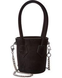 Salar Celia Suede Bucket Bag - Black