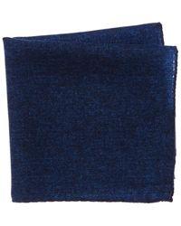 Bonobos Wool Pocket Square - Blue