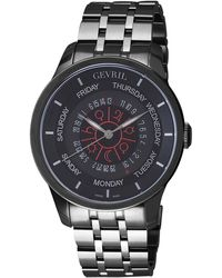 Gevril Watches - Columbus Circle Black Chrono Gents Watch, 45mm - Lyst