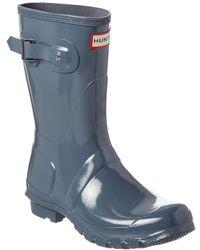HUNTER Original Short Gloss Boot - Grey