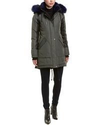 Nicole Benisti Chelsea Leather-trim Down Coat - Blue