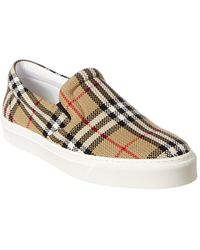 Burberry Vintage Check Slip-on Sneaker - Natural