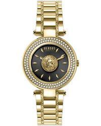 Versus Women's Brick Lane Crystal Watch - Metallic