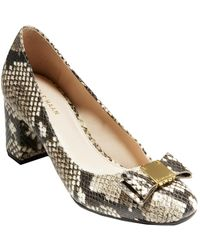 Cole Haan Tali Bow Leather Pump - Multicolour