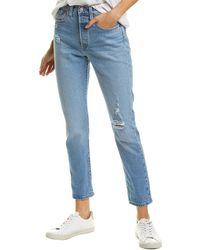 Levi's 501 Tango Taps High-rise Skinny Leg Jean - Blue