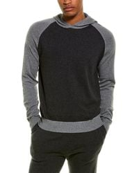 Phenix Tonal Pullover Cashmere-blend Hoodie - Grey