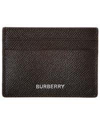 Burberry Grainy Leather Card Case - Black