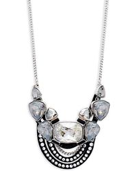 Swarovski - Glass Stone & Cubic Zirconia Pendant Necklace - Lyst