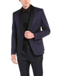 Valentino 2pc Wool & Silk-blend Suit With Pleated Pant - Blue