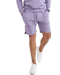 Goodlife Clothing Micro Terry Scallop Short - Purple