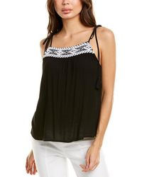 1.STATE Embroidered Tank - Black