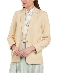 Vince Nubuck Leather Blazer - Brown