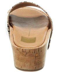Dolce Vita Catchy Snake-embossed Platform Sandal - Brown