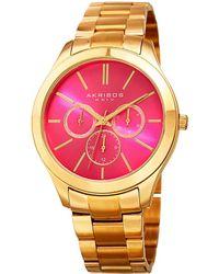 Akris Akribos Xxvi Women's Casual Watch - Pink