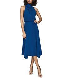 Reiss Jenna Midi With Godet Dress - Blue