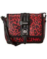 Versus By Versace Leather Shoulder Bag - Red