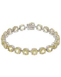 Effy Fine Jewellery 14k 22.05 Ct. Tw. Lemon Quartz Bracelet - Metallic