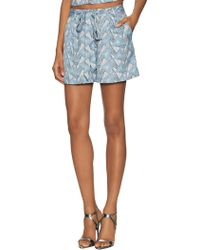 Lucca Couture - Printed Front Pleat Short - Lyst