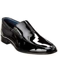 Gordon Rush Venetian Patent Loafer - Black