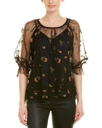 Anna Sui Embroidered Top - Black