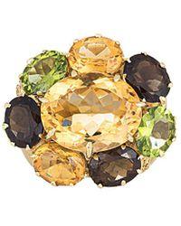 Heritage 18k 31.95 Ct. Tw. Diamond Gemstone Cocktail Ring - Metallic