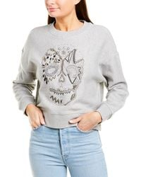 Zadig & Voltaire Champ Cannetelle Skull Top - Gray