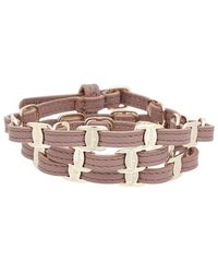 Ferragamo Leather Bracelet Pink